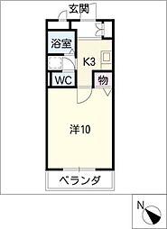 クレセールミユキ[3階]の間取り