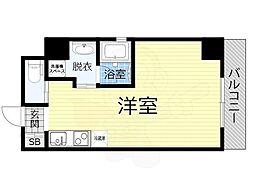 JO-KITA TERRACE 4階ワンルームの間取り