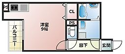PremiereI 2階ワンルームの間取り