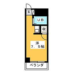 クレセント富士見[6階]の間取り