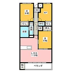 セント・アロマ[6階]の間取り