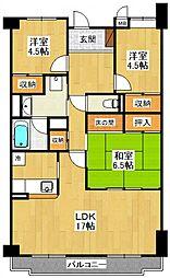 VILLA96[3階]の間取り