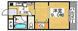 レジデンスプアクラ[2階]の間取り