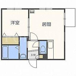 北海道札幌市豊平区月寒西一条9丁目の賃貸マンションの間取り