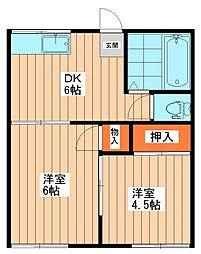 ラパス[2階]の間取り