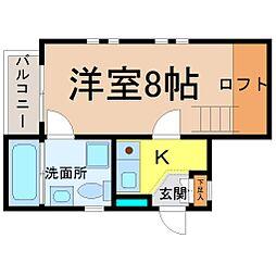 愛知県名古屋市中川区尾頭橋2の賃貸マンションの間取り