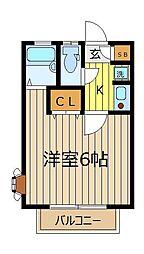 コーポクリオネ[2階]の間取り