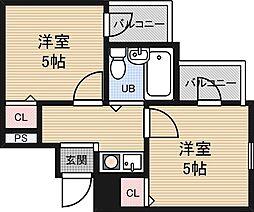 アメ二ティ新大阪2番館[2階]の間取り