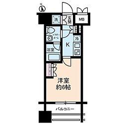 Rising Place川崎[6階]の間取り