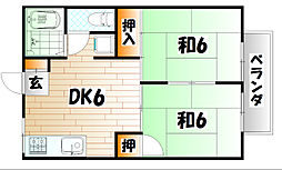 プレジール藤[2階]の間取り