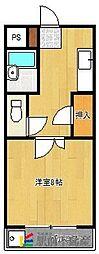 大津コーポ[207号室]の間取り