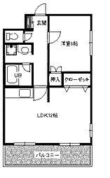 上條ビル[4階]の間取り