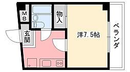 プラージュ甲子園[303号室]の間取り