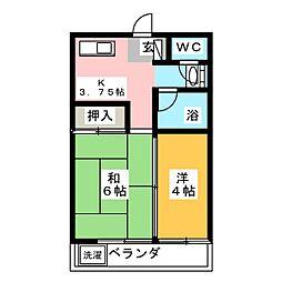 日吉コーポ[2階]の間取り