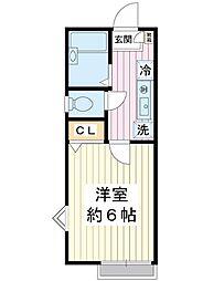 アンダルシア当代島[1階]の間取り