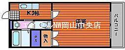 岡山県岡山市中区江並丁目なしの賃貸マンションの間取り