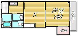 大久保ハイツ[2階]の間取り
