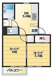 YMグランハイム[205号室]の間取り