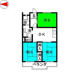 ブライトパレス[2階]の間取り