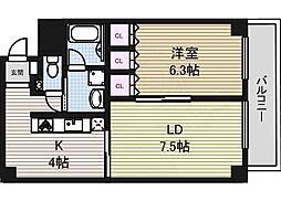 TACHIBANA BOX24 2階1LDKの間取り