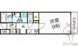 ジオグランデ梅田[7階]の間取り