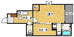 サンライズ統山[1階]の間取り