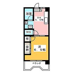 メゾン水戸[5階]の間取り