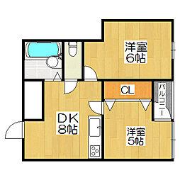 ロイヤルコート5番館[3階]の間取り