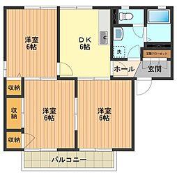 アニバーサリーB[2階]の間取り