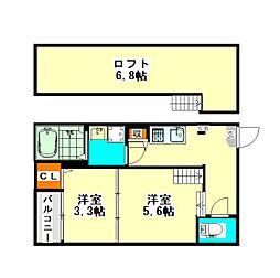 ハーモニーテラス十番IV(ハーモニーテラスジュバンフォー)[2階]の間取り