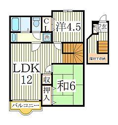 メゾン松本E棟[2階]の間取り