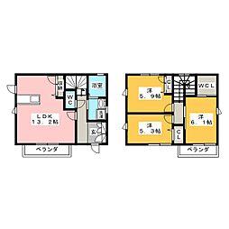 [一戸建] 岡山県岡山市北区津島西坂2丁目 の賃貸【/】の間取り