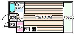 グレイスフル中崎II[4階]の間取り