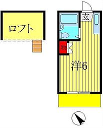 ロフティドリームNO1・2[2-203号室]の間取り