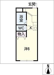 柱三番館[1階]の間取り