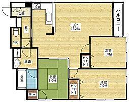 プライマリー新大阪[3階]の間取り
