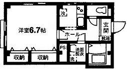東京都世田谷区上野毛1丁目の賃貸マンションの間取り