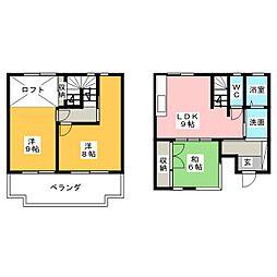 [テラスハウス] 静岡県富士宮市若の宮町 の賃貸【/】の間取り