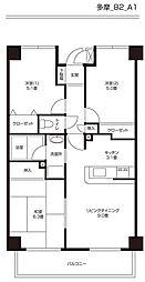 クレール生田[402号室]の間取り
