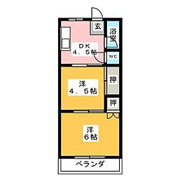 永田ビル[4階]の間取り