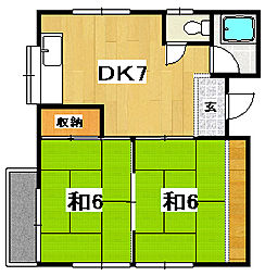 沢田コーポ[2階]の間取り
