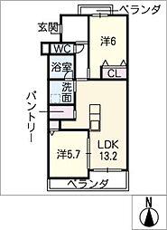 ハイツ正明寺 303号室[3階]の間取り