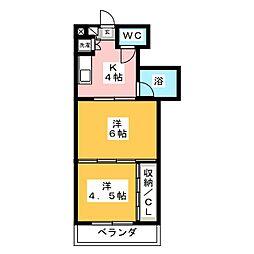 シャングリラ福沢[4階]の間取り