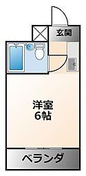 エクセルマンション西宮今津[3階]の間取り