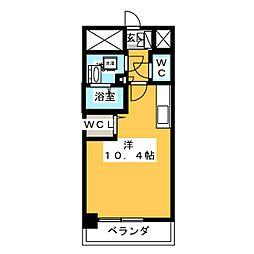 OT.residense名駅 4階ワンルームの間取り