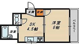 シャルマン新喜多[3階]の間取り