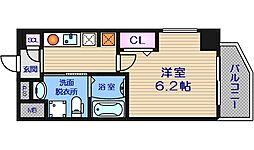 エイペックス京町堀Ⅱ[9階]の間取り