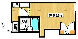 京都府京都市北区小山堀池町の賃貸アパートの間取り
