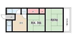 第1鳴尾マンション[305号室]の間取り