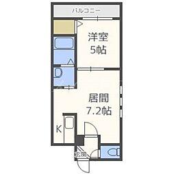 インセンス札幌北11条[3階]の間取り